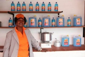 Ethanol fuel made sustainably from a surplus of cassava. Photo: CleanStar Mozambique