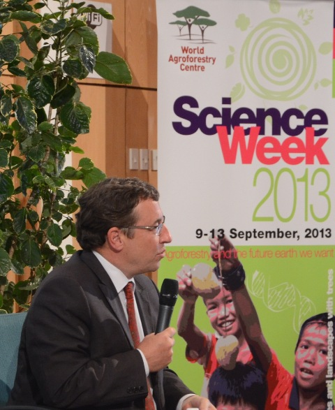 Achim Steiner, Science Week 2013, World Agroforestry Centre