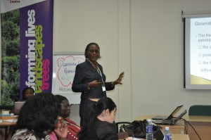 One of the breakout training sessions. Photo credit: ICRAF