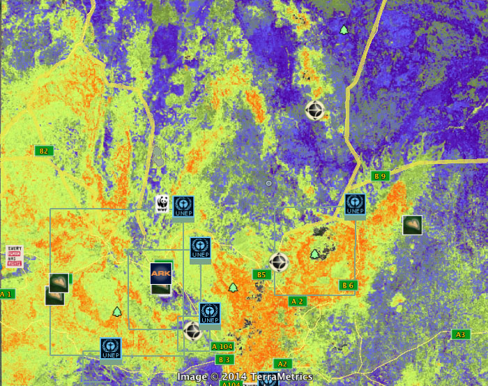 Image of Interactive map from the Landscapes Portal, showing soil pH in central Kenya for 2011.