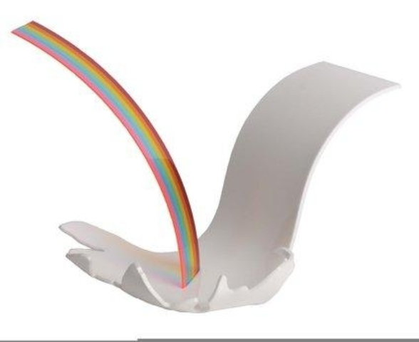 rainbow-with-waterfall-1965-Billy-Apple-sculpture