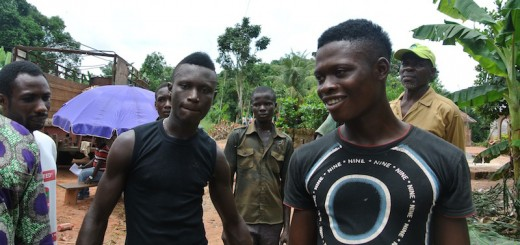 Young rubber tappers trained by the ICRAF and the Rubber Research Institute of Nigeria. Photo: Cathy Watson