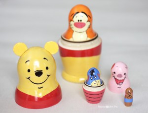 Different dolls within different dolls... Photo and dolls: http://www.repeatcrafterme.com/2013/09/winnie-pooh-nesting-dolls.html