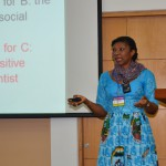 Cécile Ndjebet of REFACOF, Cameroon speaks at ICRAF HQ, Nairobi 10September2014. Photo by Anne Kamadi/ICRAF