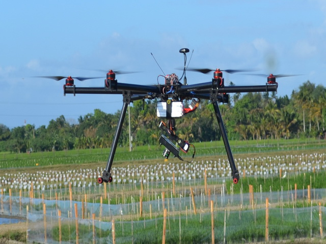drone camera, aerial imaging, IRRI