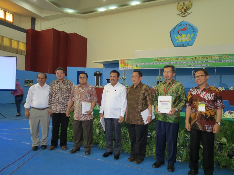 Fifth National Agroforestry Seminar, keynote speakers, Indonesia, Ambon