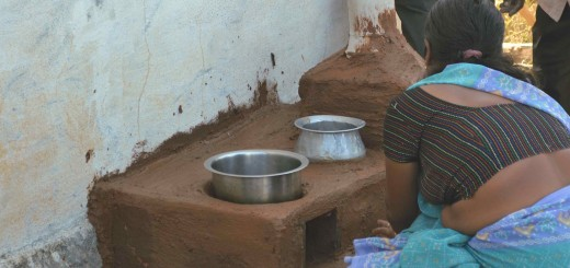 A training participant finishes off her Sarala cook stove