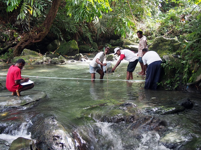 Measuring river flow