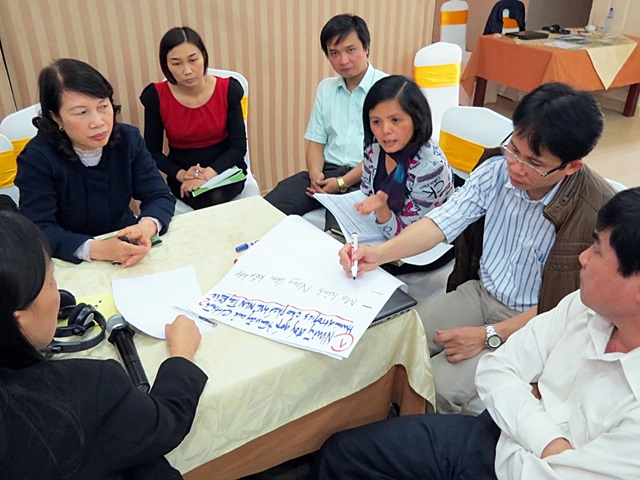 group discussion, Humidtropics, Son La, Viet Nam Photo Tran Phong