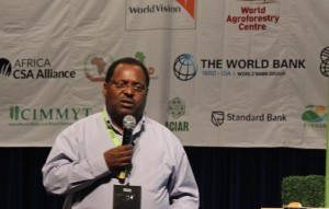 Dr Mulugetta Mekuria of CIMMYT Southern Africa speaks at conference session