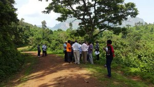Field testing new vegetationmap4Africa App in Mbale, Uganda. Photo by Roeland Kindt/ICRAF