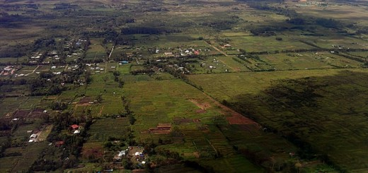 Multifunctional landscape in Jayapura, Papua, from the air. Photo: World Agroforestry Centre