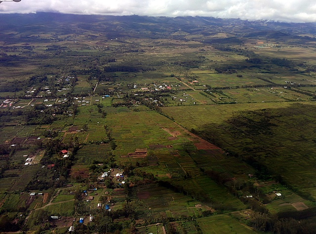 Multifunctional landscape in Jayapura, Papua, from the air. Photo: World Agroforestry Centre/Asri Joni