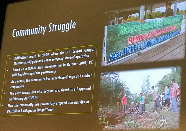 The community's struggle against a peatland developer. Photo: World Agroforestry Centre/Robert Finlayson