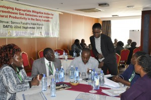 Stakeholders at a workshop to initiate the development of a NAMA for Kenya's dairy sector. Photo ICRAF/Susan Onyango