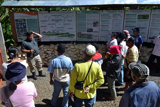 A capacity-building workshop for the smallholding farmers in the southern Philippines as part of a 'ridge to reef' project led by ICRAF Philippines. Photo: World Agroforestry Centre