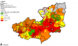 Spatial analysis of biodiversity, poverty and other aspects, Lam Dong, Viet Nam. Source: SNV