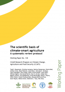 The scientific basis of climate-smart agriculture: A systematic review protocol. CCAFS Working Paper no. 138.