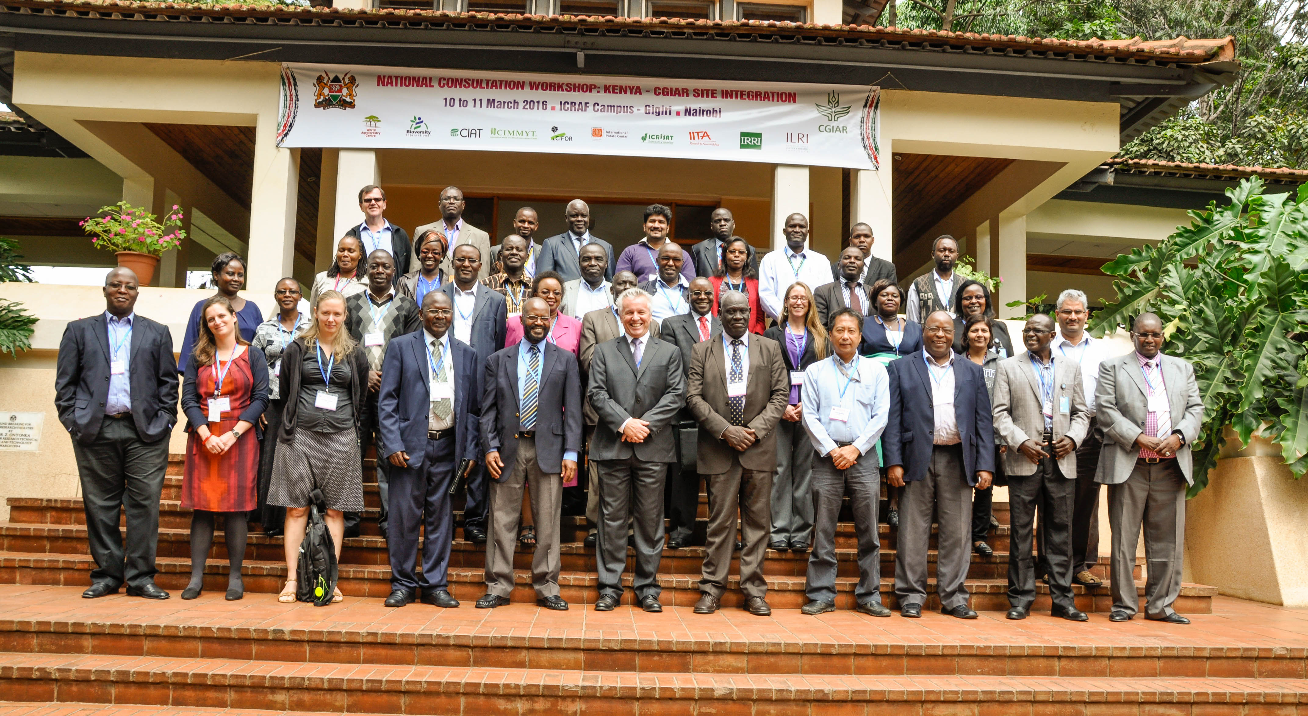 Group photo. By Danyell Odhiambo/ICRAF