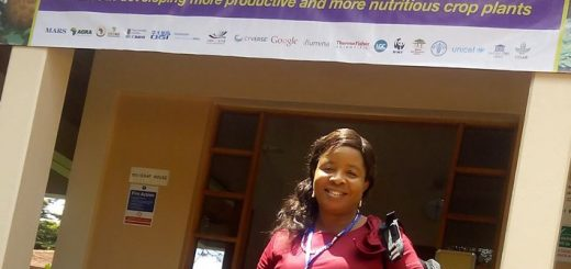 Dr Happiness Osebele, geneticist and mother of five, one of 29 senior plant breeders from around Africa attending the African Plant Breeding Academy in July 2016 at ICRAF. Photo: World Agroforestry Centre/Catharine Watson
