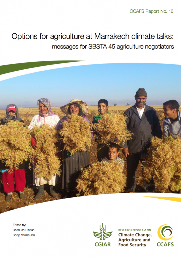 Options for agriculture at Marrakech climate talks (CCAFS report)