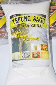 Labelled package of Sagu flour