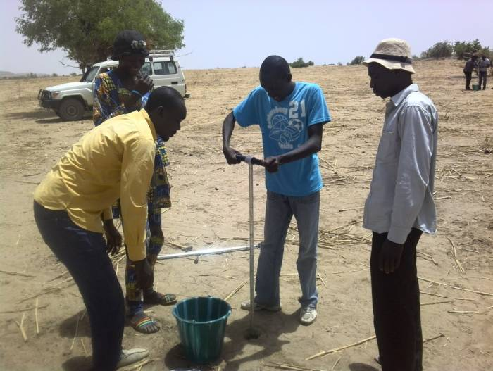 The data collection team at work in the field in Dar Sila, Chad, May 2016. ICRAF/Bertin Takoutsing & Ann Degrande