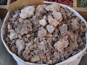 Bag of Frankincense at Spice Souk. Photo by Liz Lawley via Wikimedia Commons