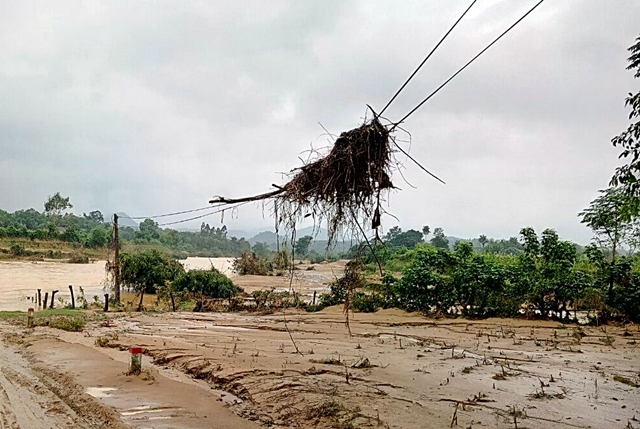 The second flood was stronger. Photo: World Agroforestry Centre/Duong Minh Tuan