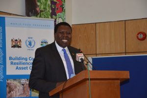 Hon. Eugene Wamalwa,E.G.H, Cabinet Secretary, Ministry of Water and Irrigation. Photo/World Agroforestry Centre