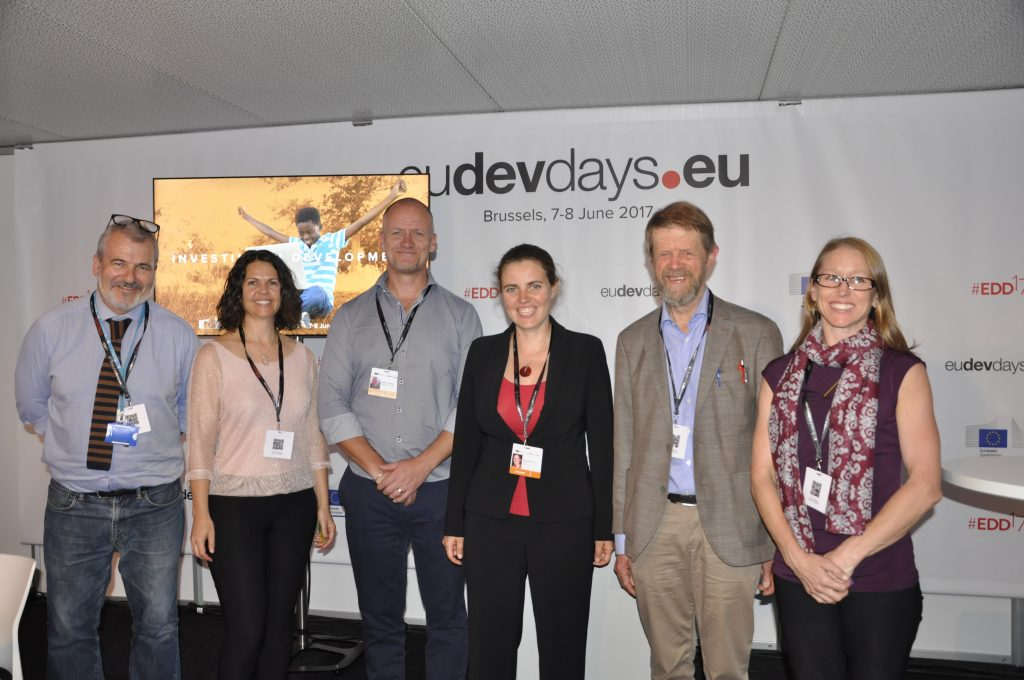 Panelists at the session on sustainable soil management in Africa at the European Development Days 2017. Photo: World Agroforestry Centre/ Susan Onyango