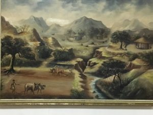 Landscape degradation in Ethiopia is centuries old. A painting from 1951 in Ethiopia's National Museum shows erosion devouring arable land.