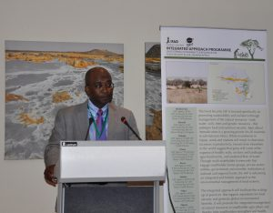 Dr. Mohamed Bakarr, Lead Environment Specialist, the Global Environment Facility speaking at the launch. Photo: World Agroforestry Centre/Susan Onyango