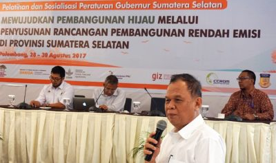 Gubernorial Regulation promulgated on green economic growth in South Sumatra, Indonesia